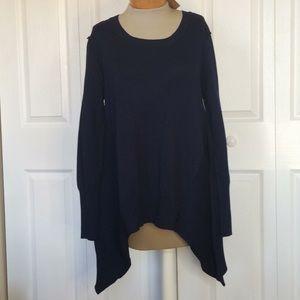 Paper Crane (stitch fix) navy draped sweater M